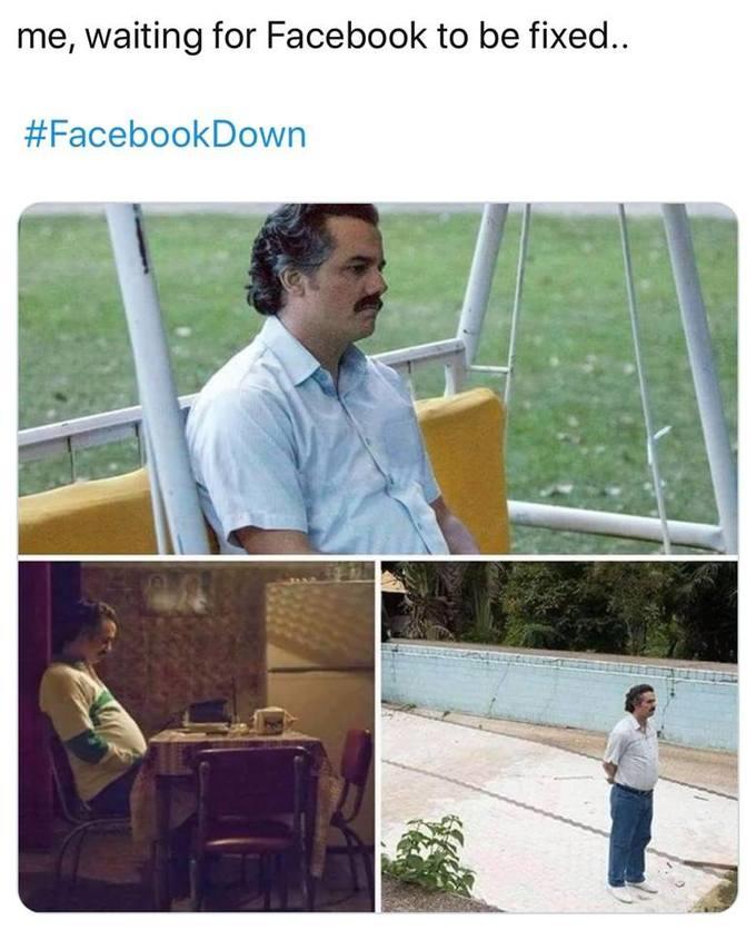 Biểu cảm buồn chán của nhân vật chính trong phim Her được dùng để mô tả tâm tình của người dùng khi không thể vào Facebook.