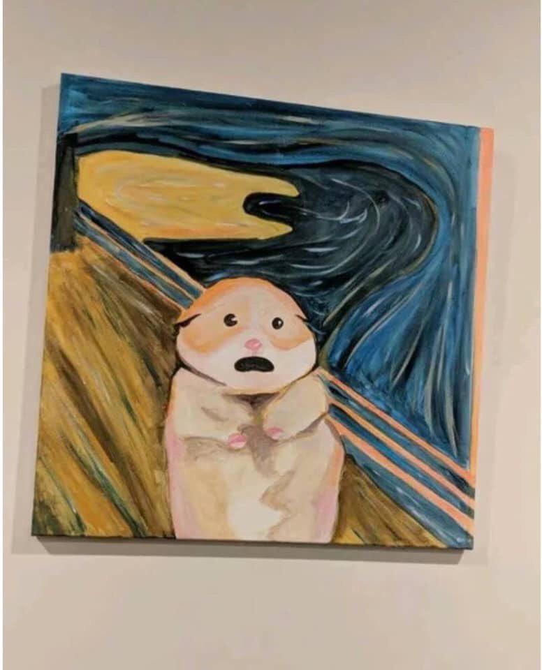 """Tâm trạng của người dùng Facebook sáng nay được những người dùng Twitter châm biếm bằng bức tranh """"Tiếng thét"""" (The Scream) của họa sĩ Edvard Munch (1863 - 1944) với khuôn mặt lộ rõ sự kích động, hốt hoảng cùng đôi tay ôm lấy đầu."""