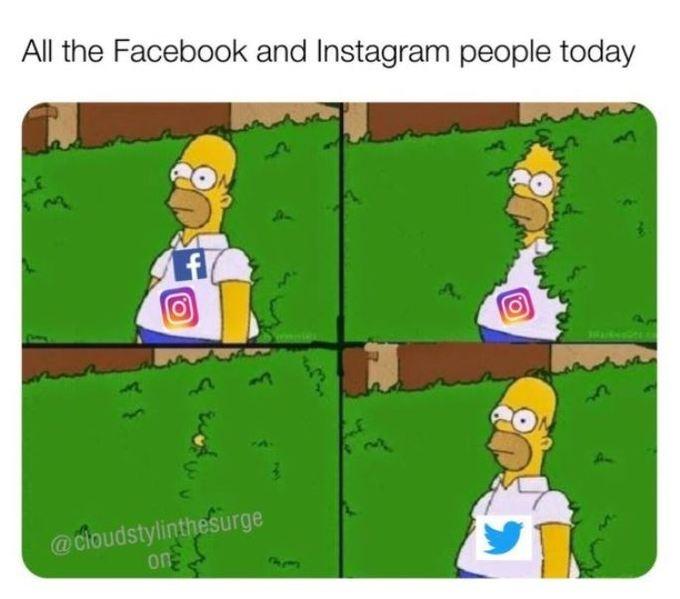 Facebook và Instagram phải nhường sân khấu cho Twitter.