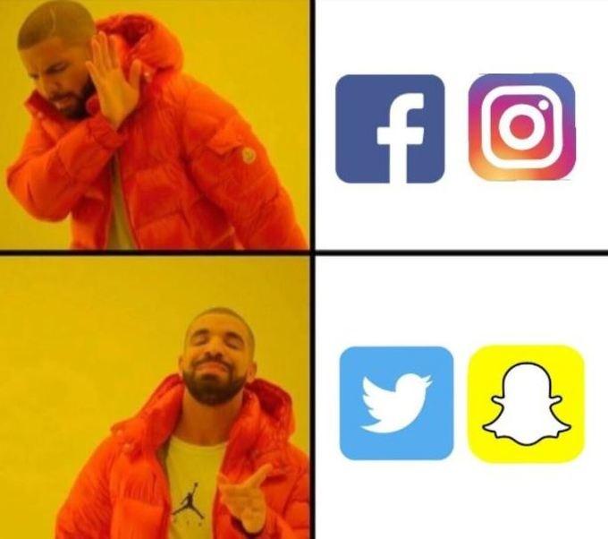 Lựa chọn phù hợp nhất của người dùng mạng Internet lúc này là Twitter, Snapchat thay vì Facebook hay Instagram.