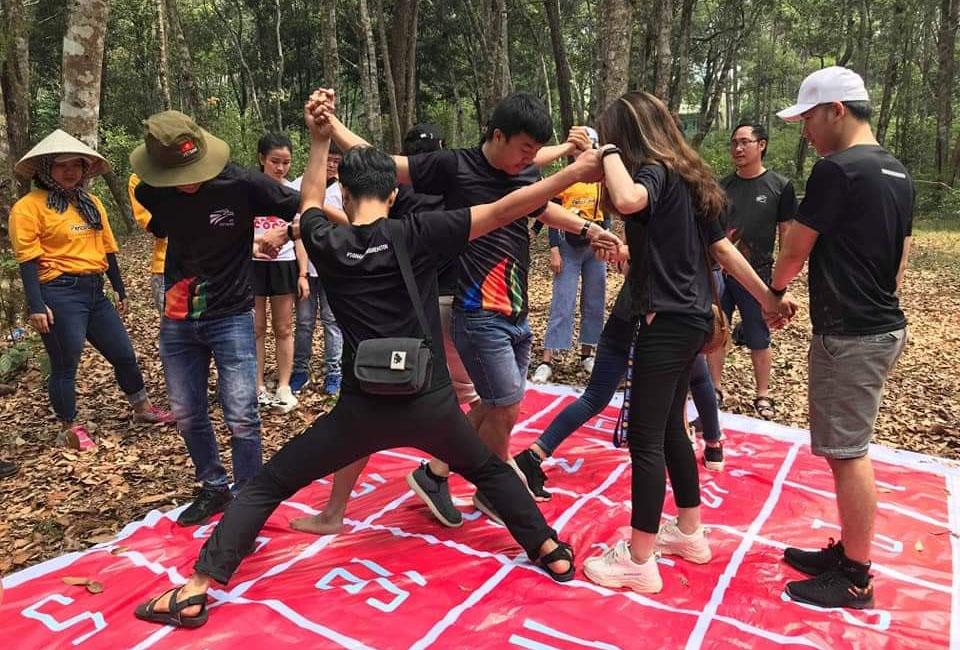 Game Mê cung số thử thách tinh thần đoàn kết, sự phối hợp ăn ý giữa các thành viên. Trong khi đó, trò chơi Qua cầu rút ván mang lại niềm vui, khám phá sự mạo hiểm...
