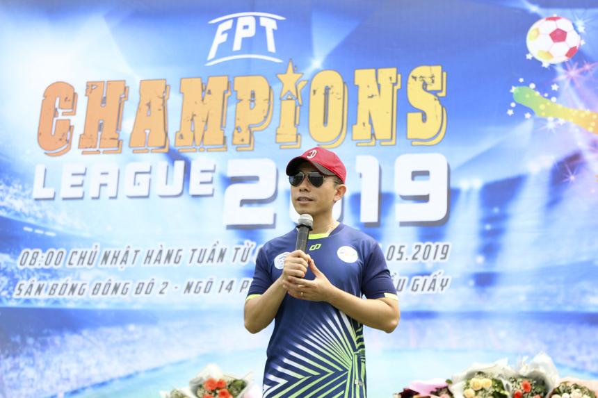 """Phát biểu tại lễ khai mạc, PTGĐ FPT Hoàng Việt Anh khẳng định FPT Champions League là một giải đấu có tính truyền thống của FPT: """"Năm nay, chúng ta tiếp tục trông chờ những trận đấu căng thẳng, kịch tính nhưng đầy tinh thần cao thượng, tôn trọng lẫn nhau. Nhưng cũng tuyệt đối không nhận nhượng những hành động phi thể thao, đi ngược lại văn hóa FPT. Chúc các cầu thủ, các cổ động viên có một mùa giải thật vui, thật thành công""""."""