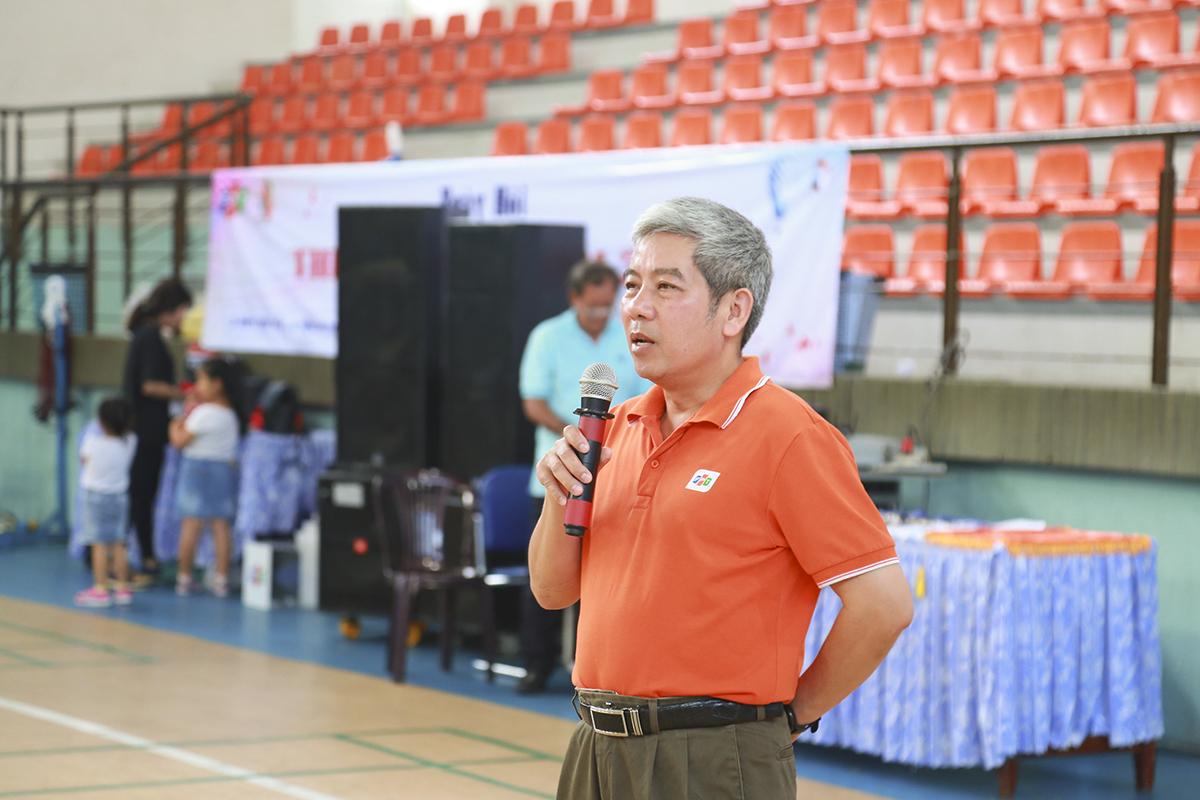 Anh Nguyễn Tuấn Hùng - Giám đốc điều hành FPT HCM hy vọng Ngày hội sẽ giúp các anh chị em nhà F thư giãn sau những ngày làm việc căng thẳng và nâng cao tinh thần lập luyện thể thao để có sức khỏe, đạt năng suất cao trong công việc.