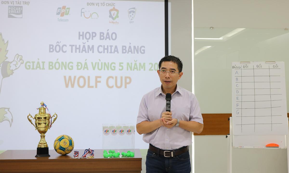 Phát biểu tại buổi ra mắt giải, anh Hoàng Việt Anh, TGĐ FPT Telecom kiêm Chủ tịch Liên đoàn bóng đá FPT Telecom (DFF), bày tỏ sự vui mừng vì lần đầu sau 22 năm hoạt động, nhà Viễn thông đã có liên đoàn bóng đá riêng. Từ nay, các giải của nhà Cáo sẽ có logo riêng là DFF. Năm nay, phong trào bóng đá đã trở nên mạnh mẽ hơn từ Bắc tới Nam, số lượng thành viên tham gia tăng gấp đôi. Với những hoạt động này, Liên đoàn hy vọng mọi anh em đam mê đá bóng đều có thể ra sân. Anh hy vọng giải Vùng 5 - phát súng đầu tiên cho khu vực phía Nam sẽ thành công tốt đẹp.