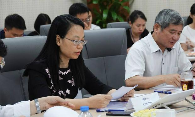 Chị Chu Thanh Hà cho biết FPT có kế hoạch để có gần 10.000 tỷ đồng doanh thu mục tiêu. Ảnh: Foxnews.