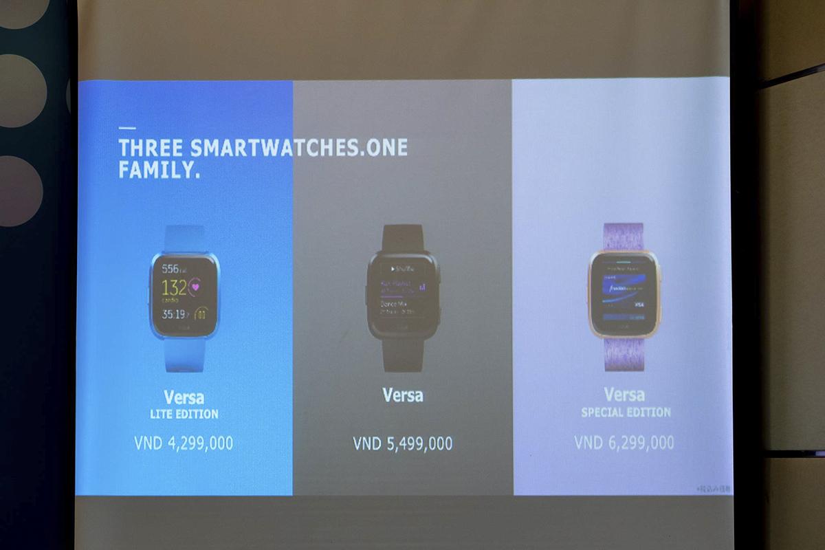 4 dòng sản phẩm mới tại Việt Nam gồm Fitbit Versa Lite Edition, Fitbit Inspire HR, Fitbit Inspire và sắp tới là Fitbit Ace 2, đáp ứng đa dạng các nhu cầu theo dõi sức khỏe và luyện tập thể thao của đa dạng người dùng, từ người lớn tới trẻ em. Ba sản phẩm đầu sẽ được bán ra ngay từ bây giò, sản phẩm Ace 2 dành cho trẻ em sẽ được mang về vào tháng 5 sắp tới với giá lần lượt là 4,29 triệu, 2,69 triệu, 1,99 triệu và 1,99 triệu đồng.