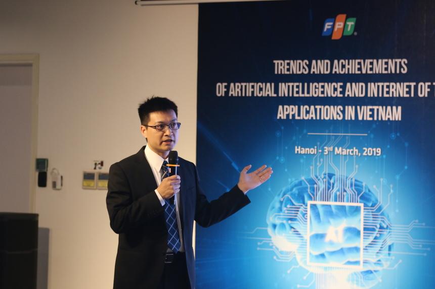 Chia sẻ về cơ sở hạ tầng cho AI tại hội thảo, Tiến sĩ Đào Thanh Bình, Nhóm hệ thống tính toán cao cấp, Bộ phận quản lý công nghệ toàn cầu, Rakuten Inc., Nhật Bản cho biết, AI đang được ứng dụng nhiều trong các lĩnh vực Chính phủ điện tử, nhà thông minh, hệ thống giao thông thông minh, nông nghiệp công nghệ cao, công nghệ tài chính, đối thoại tự động (chatbot), kinh doanh thông minh (business intelligence). Các chính phủ, công ty và học viện đã và đang quan tâm đầu tư rất nhiều cho AI với số tiền đầu tư tăng lên nhanh chóng hằng năm. Việt Nam hoàn toàn có đủ nguồn lực kinh tế, con người và cơ hội để thúc đẩy quá trình học hỏi, tích lũy kinh nghiệm và phát triển ứng dụng dựa trên AI để bắt kịp các nước khác.