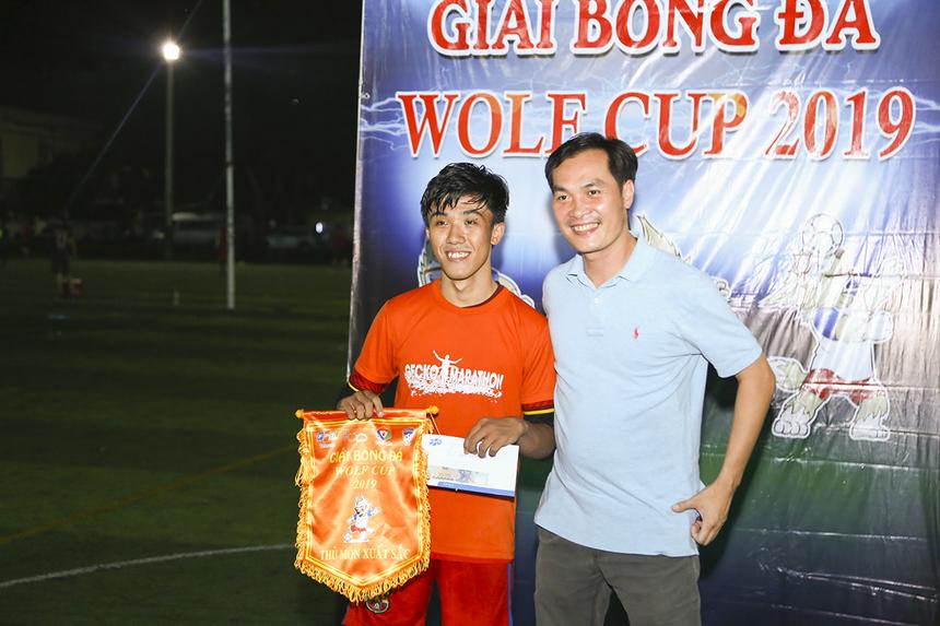 Thủ môn của đội tuyển Liên quân SG3+Telesales giành danh hiệu Thủ môn xuất sắc nhất giải.
