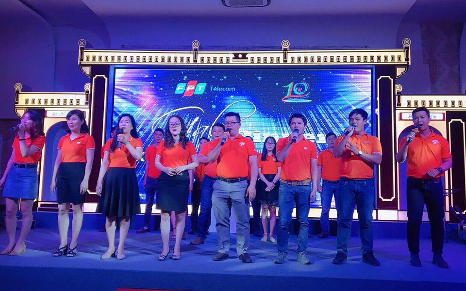 Ngày 11/5, FPT Telecom Khánh Hòa đã tổ chức chương trình kỷ niệm 10 năm thành lập tại nhà hàng Âu Lạc Thịnh. Tham dự chương trình có Phó TGĐ FPT Telecom Hoàng Trung Kiên cùng lãnh đạo Vùng 4.