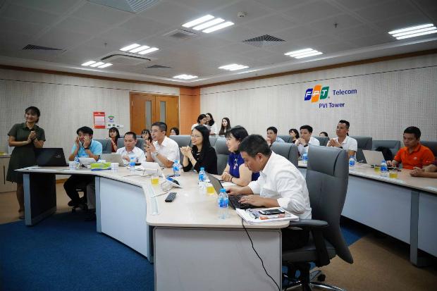 Kết quả quý I Đường lên đỉnh OKR được công bố vào buổi họp giao ban công ty đầu tuần.