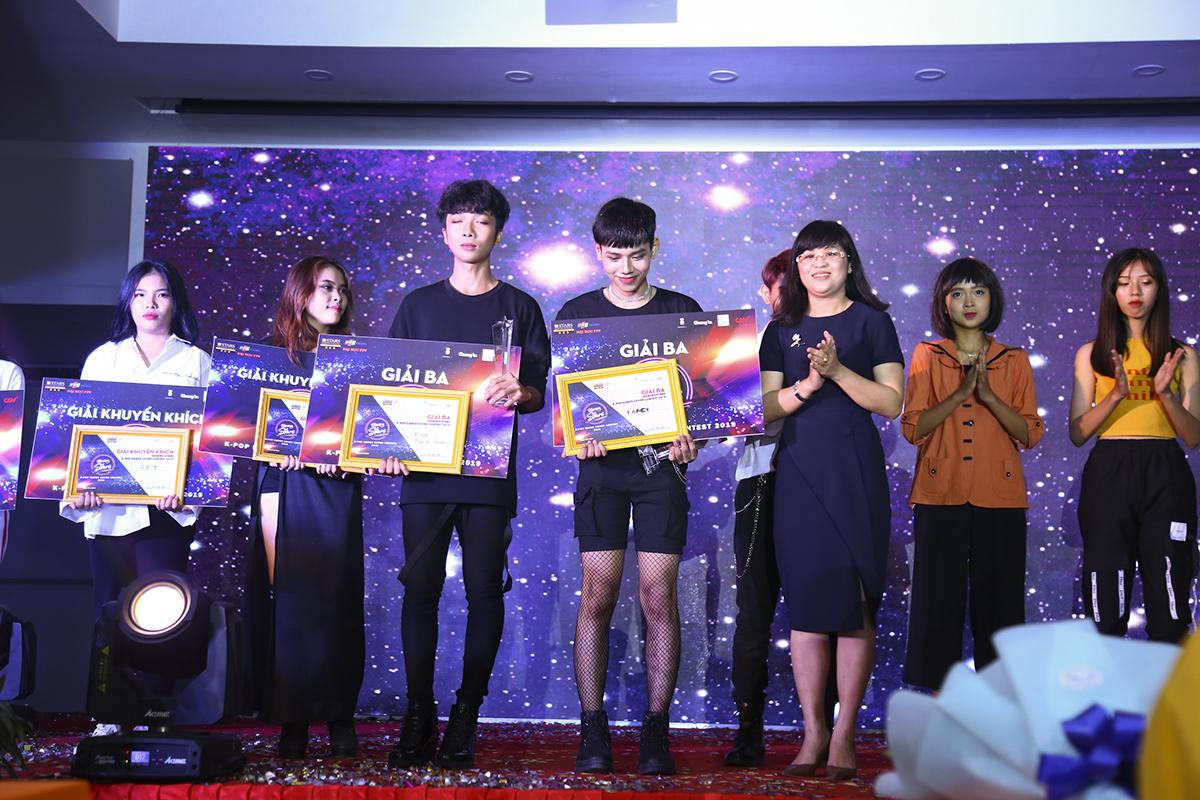 Chung cuộc, giải Ba trị giá 2 triệu đồng đã thuộc về hai đội The Fancy (THPT Bình Mình và THPT Tân Quới) cùng đội TVB Crew (THPT Trần Văn Bảy).