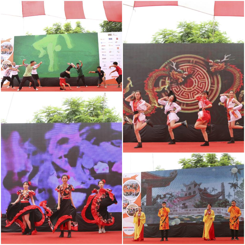 Các loại hình nghệ thuật đặc trưng của nhiều nước cũng được trình diễn tại lễ khai mạc.