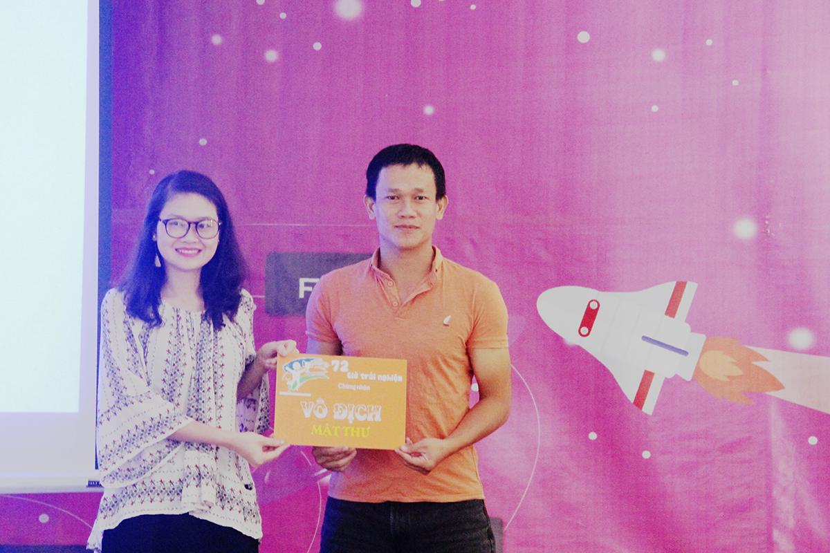Giải Nhất phần thi giải mật thư thuộc về đội Hỏa của anh Phùng Quốc Bảo, FPT Polytechnic Đà Nẵng. Anh cho biết, kết quả nhờ sự đoàn kết và tinh thần chiến đấu hết mình của các thành viên. Đội Kim và Thổ lần lượt giành giải Nhất nội dung 72h Contest và ăn nhanh.