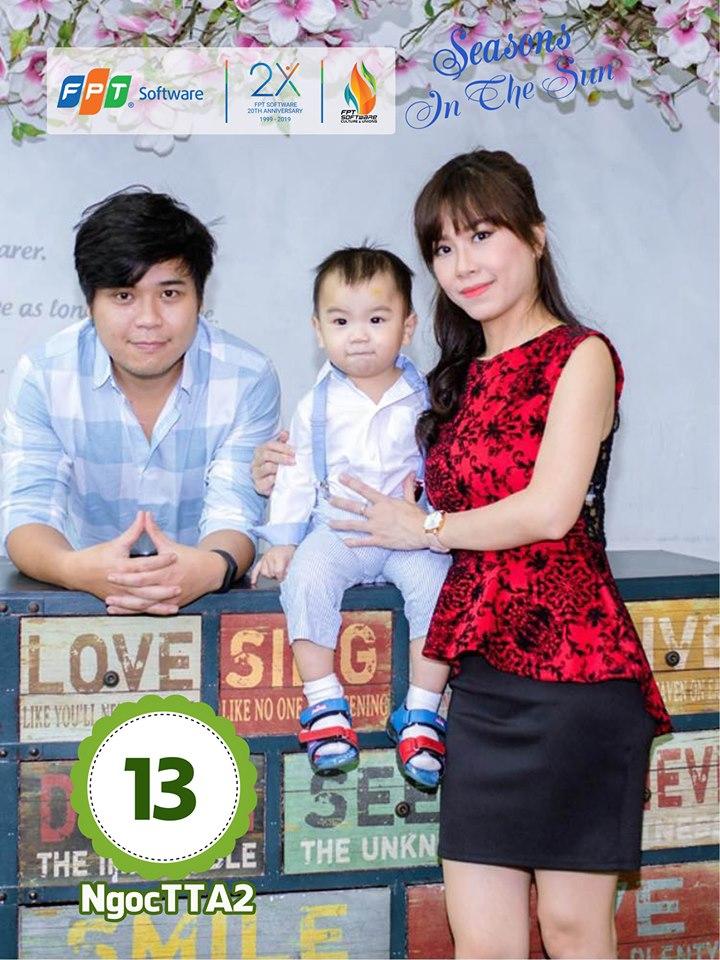 Ảnh dự thi có thể chụp một mình bé hoặc chụp chung với ông bà, bố mẹ. Ảnh gia đình chị Trương Thị Ánh Ngọc, đơn vị DPS.EDP.