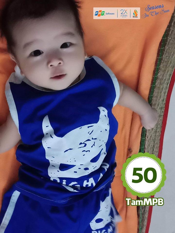 Cũng ở hạng mục khán giả bình chọn, giải Nhì thuộc về bức ảnh cháu Mai Phạm Bảo Tâm, con của Mai Huỳnh Thiên Phúc, đơn vị SSG.