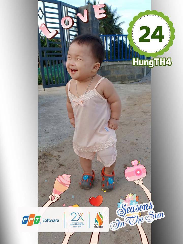 Cũng ở hạng mục giám khảo, giải Ấn tượng thuộc về cháu Trần Ngọc Huyền My, con của Trần Hữu Hùng, đơn vị FIN2.