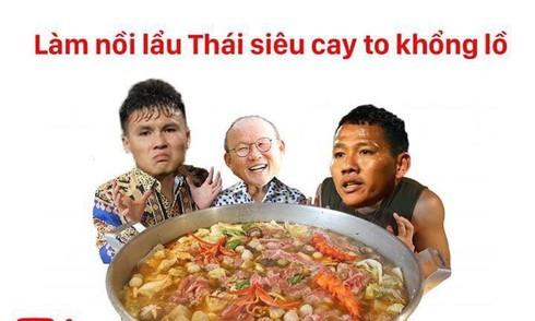 Cư dân mạng chế ảnh Việt Nam thắng Thái Lan