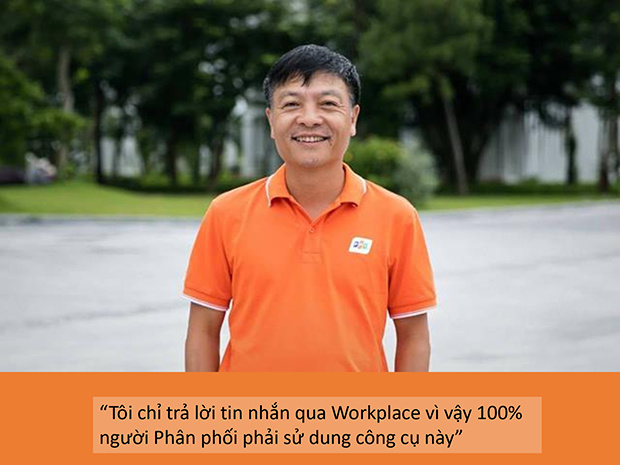 """Synnex FPT là đơn vị có tốc độ chuyển đổi nhanh nhất Tập đoàn trong chiến dịch thúc đẩy người F sử dụng Workplace. Ngay sau khi anh Nguyễn Văn Khoa gửi mail phát động toàn dân chuyển hoạt động trên nền tảng dành cho công việc, anh Bùi Ngọc Khánh - TGĐ Synnex FPT triển khai quyết liệt: """"Không trả lời tin nhắn, trừ khi nhắn tin qua Workplace"""". Anh cho rằng Workplace là công cụ làm việc thuân tiện và bảo mật."""