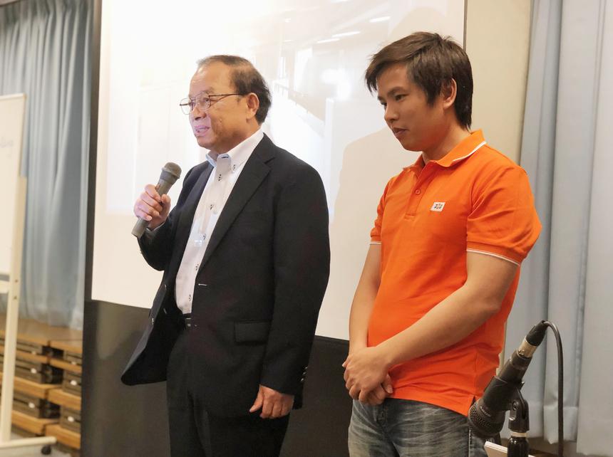 """Trưởng văn phòng đại diện FPT Hiroshima - Hosokawa Yoshiternhắn nhủ """"các bạn đam mê làm công nghệ mới hãy gia nhập FPT cùng chúng tôi""""."""