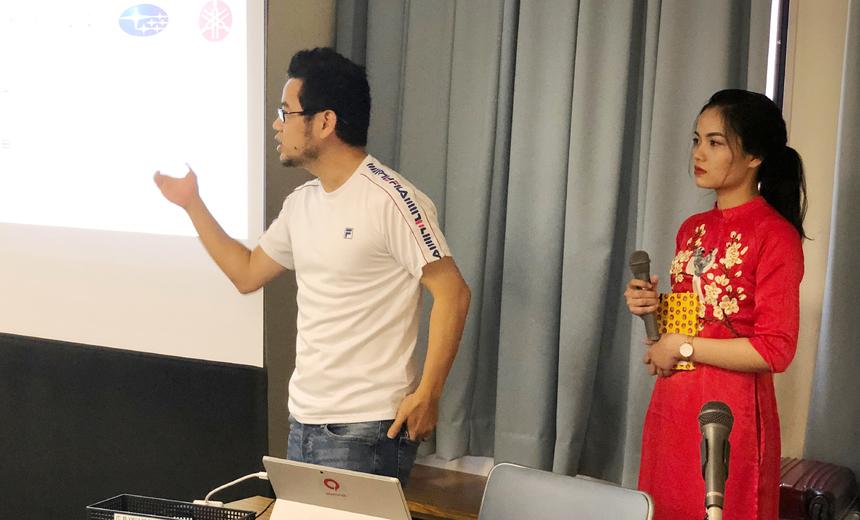 Anh Nguyễn Hồng Hà (MFG.JP.BD) cho rằng, FPT Japan hiện có nhiều văn phòng trên khắp nước Nhật và có nhiều dự án về bảo hiểm, ngân hàng, logistics, điện lực... Đây là cơ hội cho các bạn trẻ thử thách bản thân.
