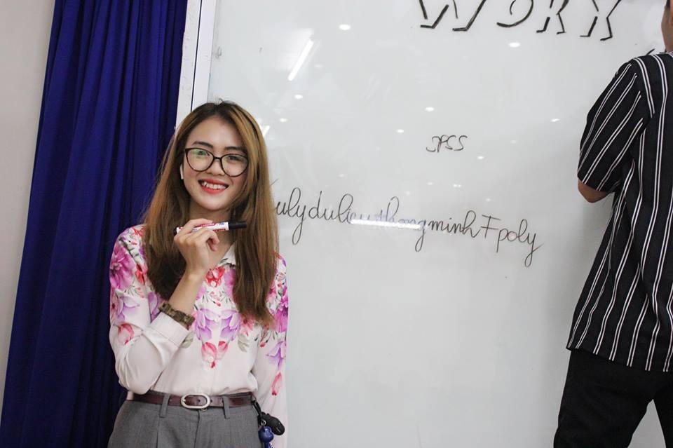 Không chỉ giỏi võ, hotgirl FPT Polytechnic còn là sinh viên có học lực tốt, xếp loại giỏi trong lớp.