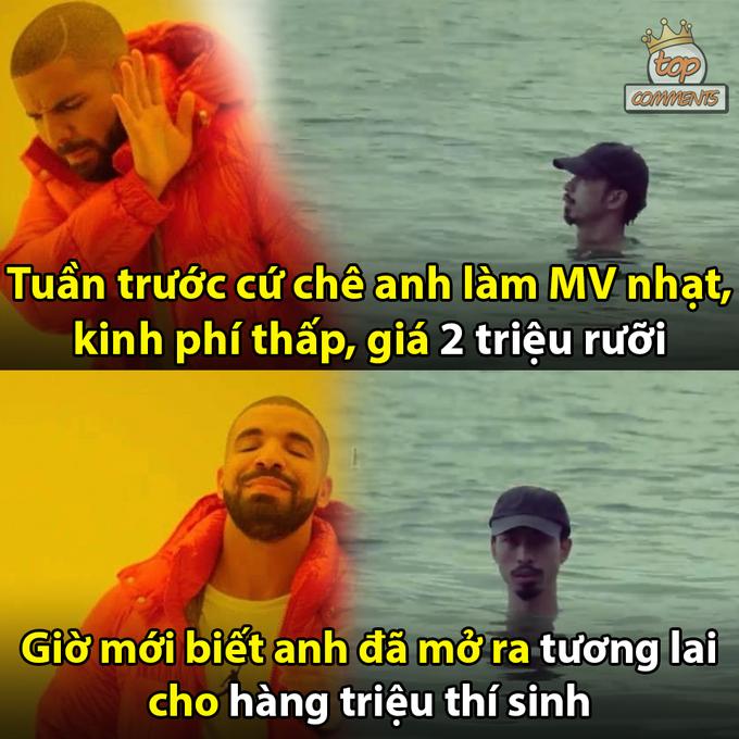 Việc nam rapper trầm mình trong nước xuyên suốt hơn 3 phút trong MV bất ngờ được nhắc lại.