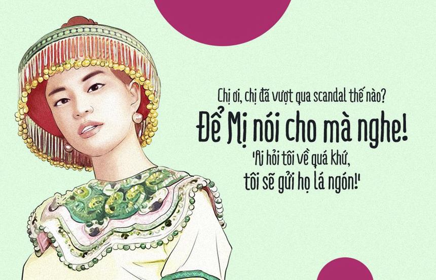 Hoàng Thùy Linh đang nỗ lực vượt quá những scandal từng có để hoạt động nghệ thuật. Nên ai còn tò mò quá khứ thì để Mị gửi tặng vài chiếc lá ngón cho nhé!.