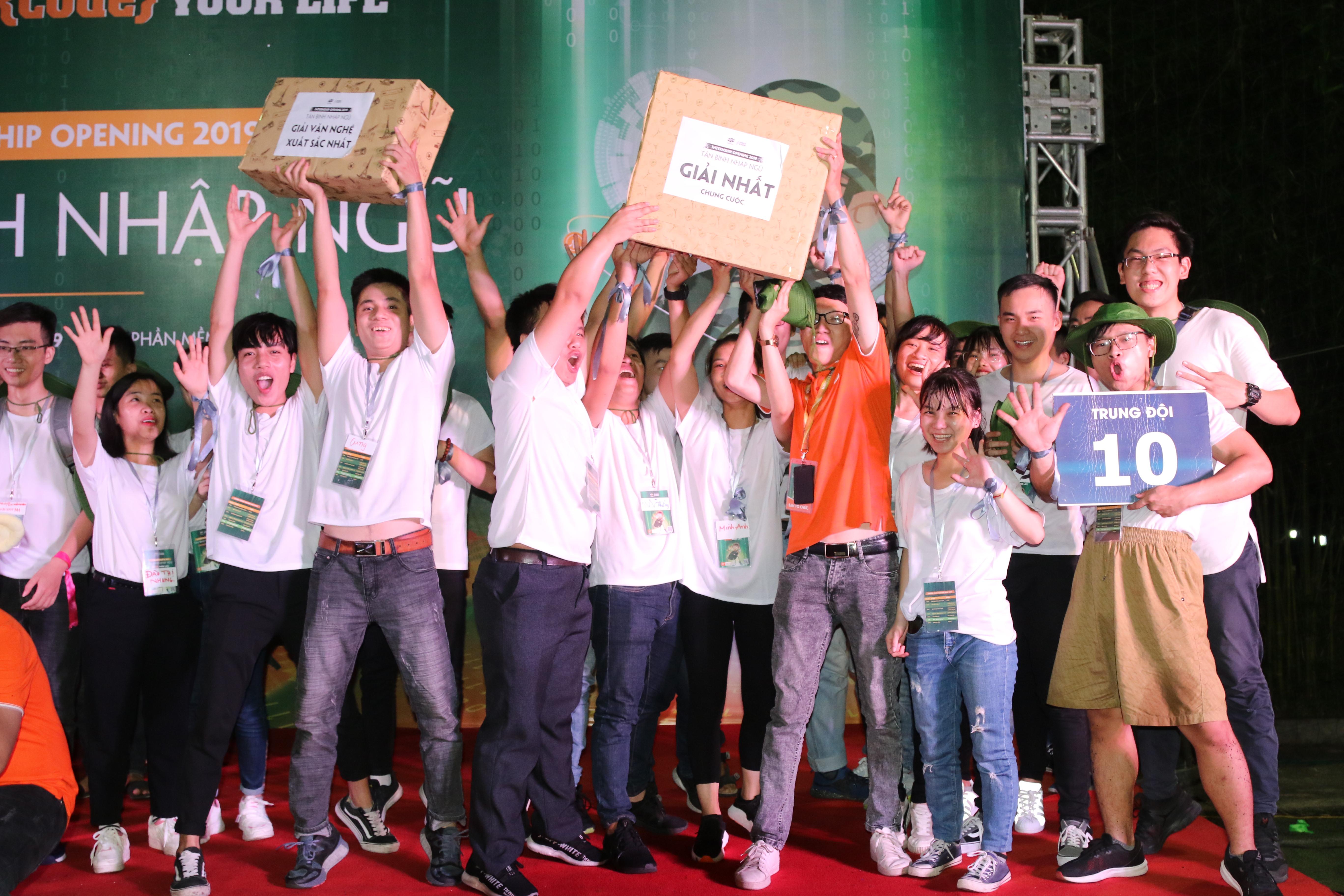 Chung cuộc, tiết mục giải Nhất thuộc về trung đội 10, giải Nhì gọi tên trung đội 2. Các đội còn lại nhận giải Khuyến khích và phần quà từ chương trình.