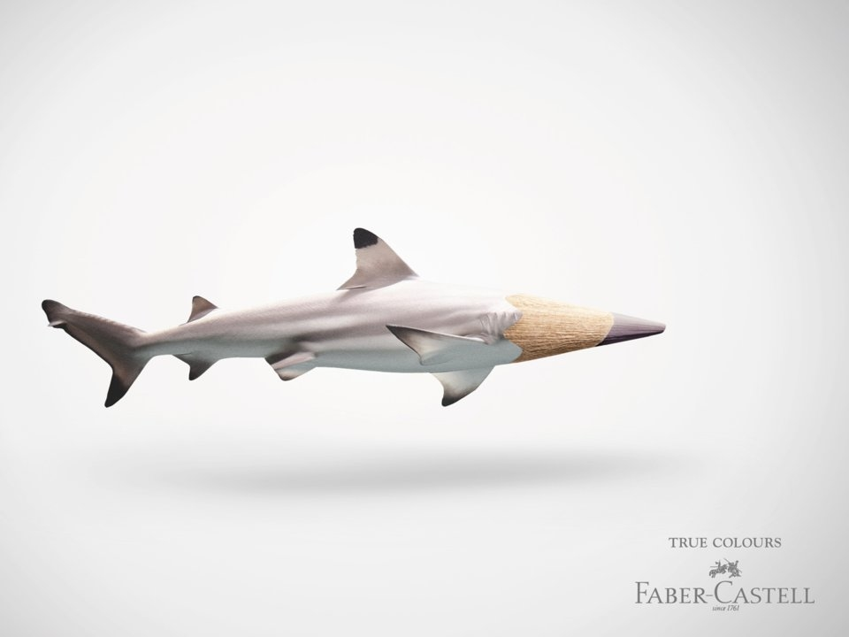Bút chì màu của Faber-Castell với màu sắc sinh động như thật, khiến bạn khó tìm thấy sự khác biệt.