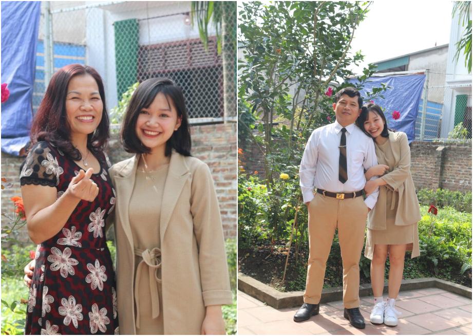 Gia đình là hậu phương vững chắc của cô con gái nhỏ. Dù có những băn khoăn bước đầu nhưng bố mẹ vẫn tôn trọng và ủng hộ mọi lựa chọn của Vi Quỳnh.