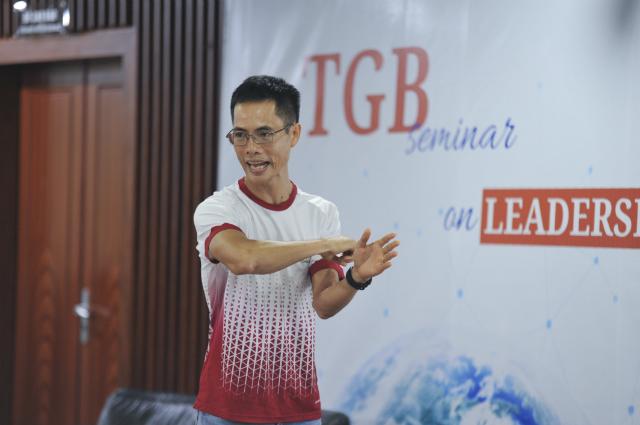VĐV Cao Ngọc Hà chia sẻ tại sự kiện của Chủ tịch FPT. Ảnh: Ngọc Trâm