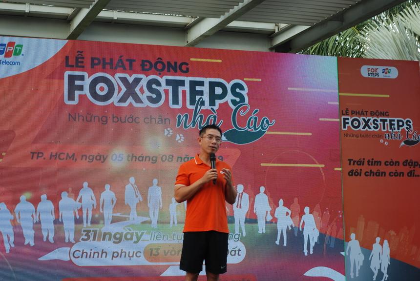 """Khi quyết định tổ chức sự kiện, Ban điều hành và Ban tổ chức mong muốn mỗi người FPT Telecom có ý thức trong rèn luyện nâng cao sức khỏe. """"Bởi chúng tôi tin chắc rằng một tổ chức có nhiều thành viên trẻ, mạnh mẽ về thể lực và tinh thần thì tổ chức đó chắc chắn sẽ phát triển"""". Theo đó, FoxSteps sẽ là nơi đồng hành và tôn vinh những bước chân, dấu chân của người nhà 'Cáo' trên mọi nẻo đường."""