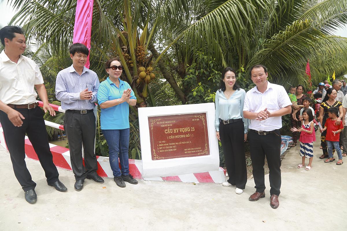 Theo chị Trương Thanh Thanh - Chủ tịch Quỹ Hy vọng, sự hợp tác, hỗ trợ chung tay của những doanh nghiệp như ngân hàng Bắc Á sẽ giúp ước mơ, mục tiêu của Quỹ sẽ đi xa hơn, nhanh hơn và có thể vượt mục tiêu 100 cây cầu cho bà con vùng Đồng bằng sông Cửu Long trong vòng 2 năm tới.