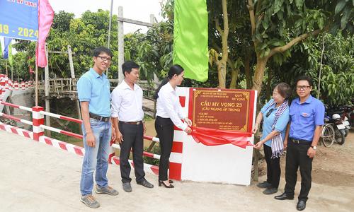 Quỹ Hy vọng khánh thành 4 cây cầu đầu tiên ở An Giang