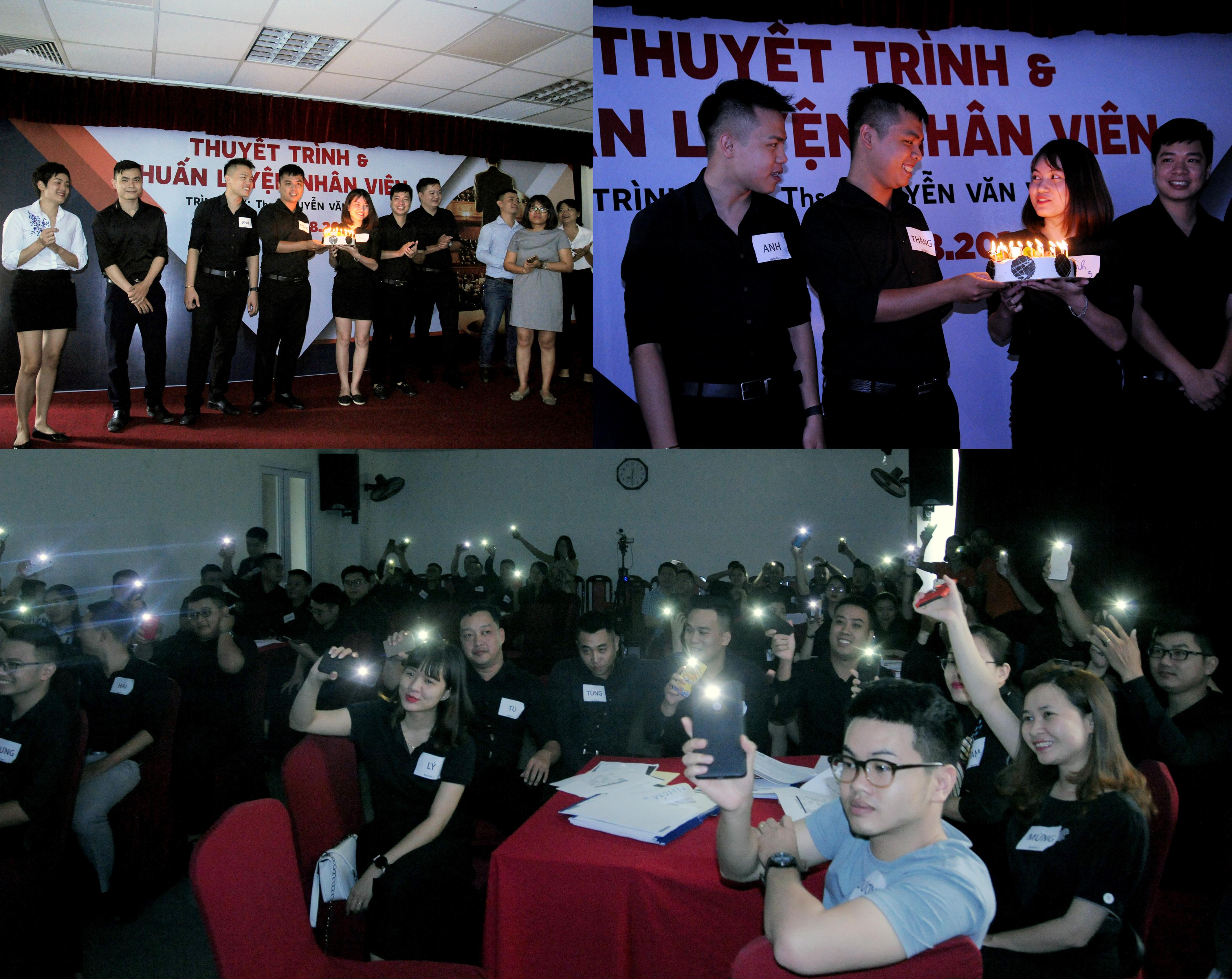 Cuối chương trình là phần chúc mừng sinh nhật dành cho các quản lý và ASM có ngày sinh trong tháng 8. Tham dự sự kiện có chị Phan Tường Linh, GĐ FPT Retail tại Hà Nội, cùng các lãnh đạo đơn vị.