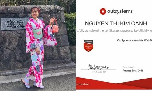 Nữ nhân viên đầu tiên của FPT Japan sở hữu chứng chỉ OutSystems