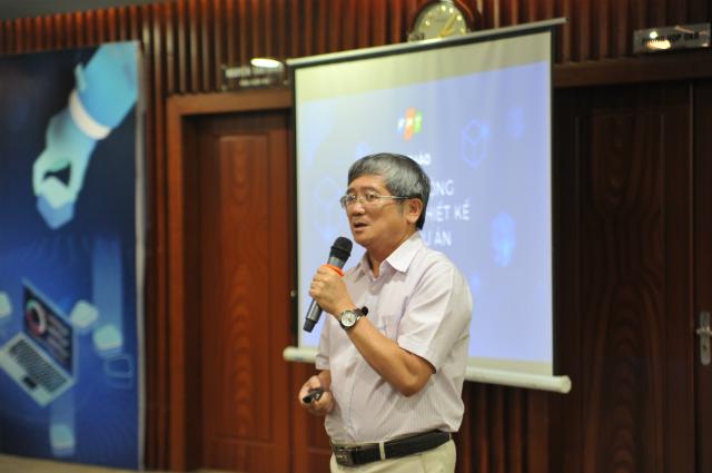 Anh Bùi Quang Ngọc phát biểu tại sự kiện.