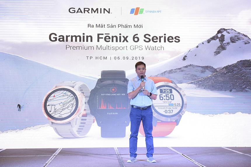 Tất cả các mẫu đồng hồ thông minh Fenix 6 series đều được bán qua Nhà phân phối Synnex FPT với giá bán lẻ:Fenix 6S – Màu bạc với dây đen: 14,99 triệu đồng;Fenix 6S Sapphire – Màu vàng hồng với dây xám : 19,99 triệu đồng;Fenix 6S Sapphire – DLC Carbon màu xám với dây đen: 19,99 triệu đồng;Fenix 6 – Màu bạc với dây đen: 14,99 triệu đồng;Fenix 6 Sapphire – DLC Carbon màu xám với dây đen: 19,99 triệu đồng;Fenix 6X Sapphire – DLC Carbon màu xám với dây đen: 21,49 triệu đồng;Fenix 6X Pro Solar – DLC Carbon màu xám, Titanium với dây đen: 23,99 triệu đồng;Fenix 6X Pro Solar – DLC Carbon màu xám, Titanium với dây DLC Carbon Titanium Bracelet: 28,99 triệu đồng.