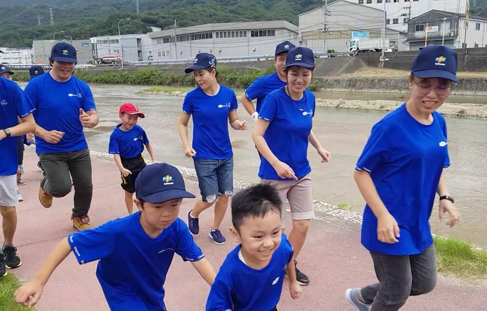"""Cuộc đua """"FJP Family Run"""" tại FPT Hiroshima cũng đã diễn ra sôi nổi với sự tham gia của nhiều em nhỏ."""