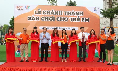 Từ FoxSteps, FPT Telecom tặng sân chơi cho trẻ em Bắc Ninh