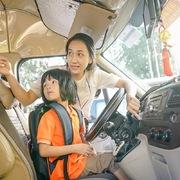 Học sinh FPT tập cách ứng phó khi bị bỏ quên trên ô tô