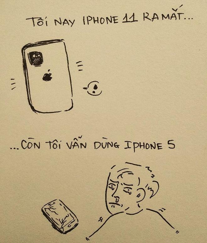 """""""Dân nghiện iPhone"""" sốt sắng """"săn"""" máy mới. Tuy nhiên vẫn còn nhiều người dùng đời máy cũ cách đây nhiều năm."""