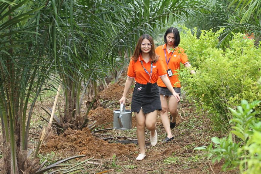 Ngay sau đó, Ban lãnh đạo dẫn đầu bởi CEO FPT Software Phạm Minh Tuấn, PGĐ Sở Xây dựng Hà Nội Hoàng Cao Thắng cùng 50 CBNV lên xe di chuyển đến Đại lộ Thăng Long cách Làng phần mềm khoảng 6km. Đoạn đường từ km số 2 đến cầu vượt rẽ sang Sơn Tây dài khoảng 2 km, là nơi người Phần mềm trồng hơn 3.000 cây xanh tặng Hà Nội.
