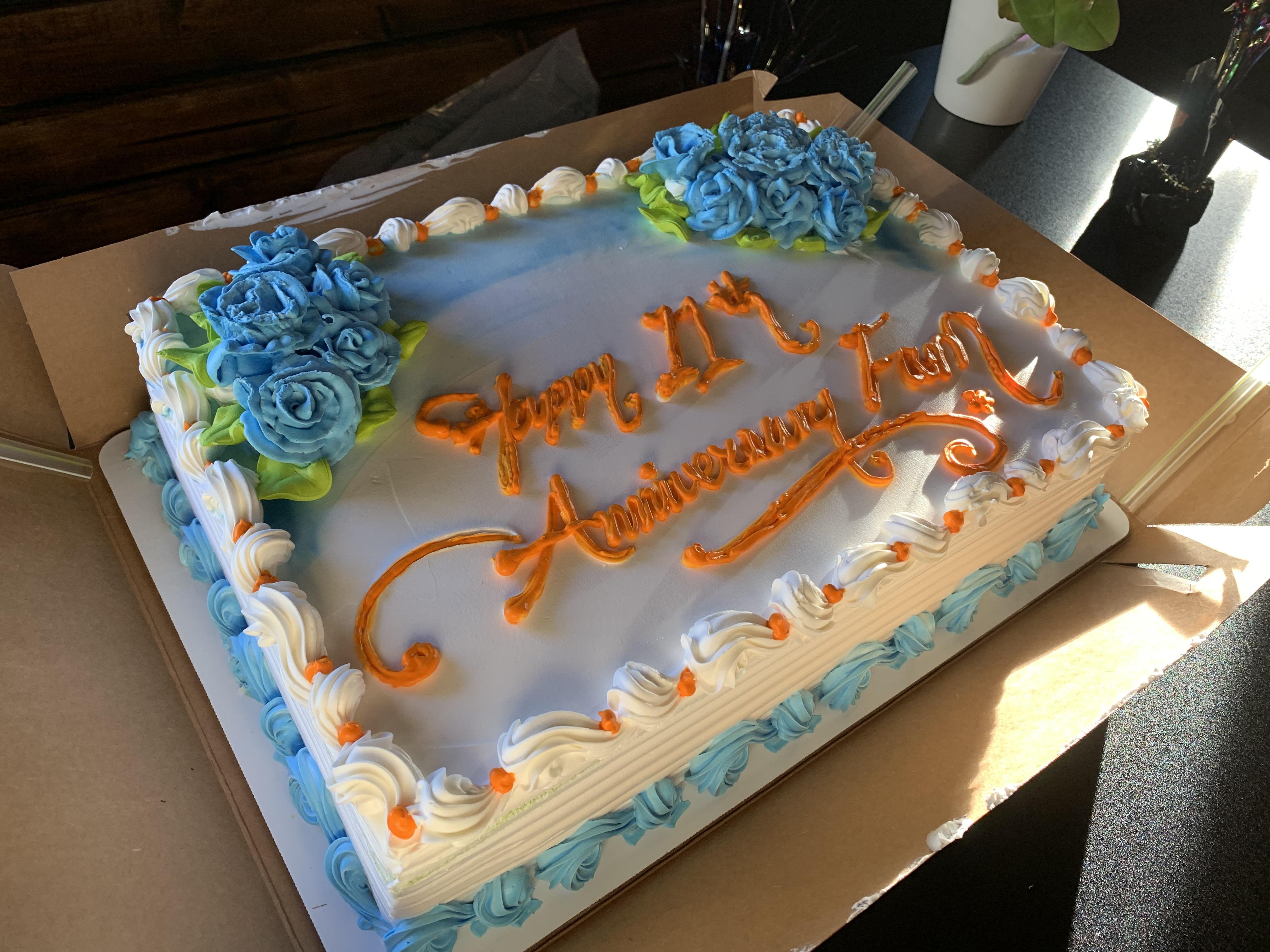 Mỗi site sẽ có bánh sinh nhật riêng.