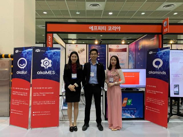 FPT giới thiệu nhiều sản phẩm tại sự kiện. Ảnh: FPT Hàn Quốc.