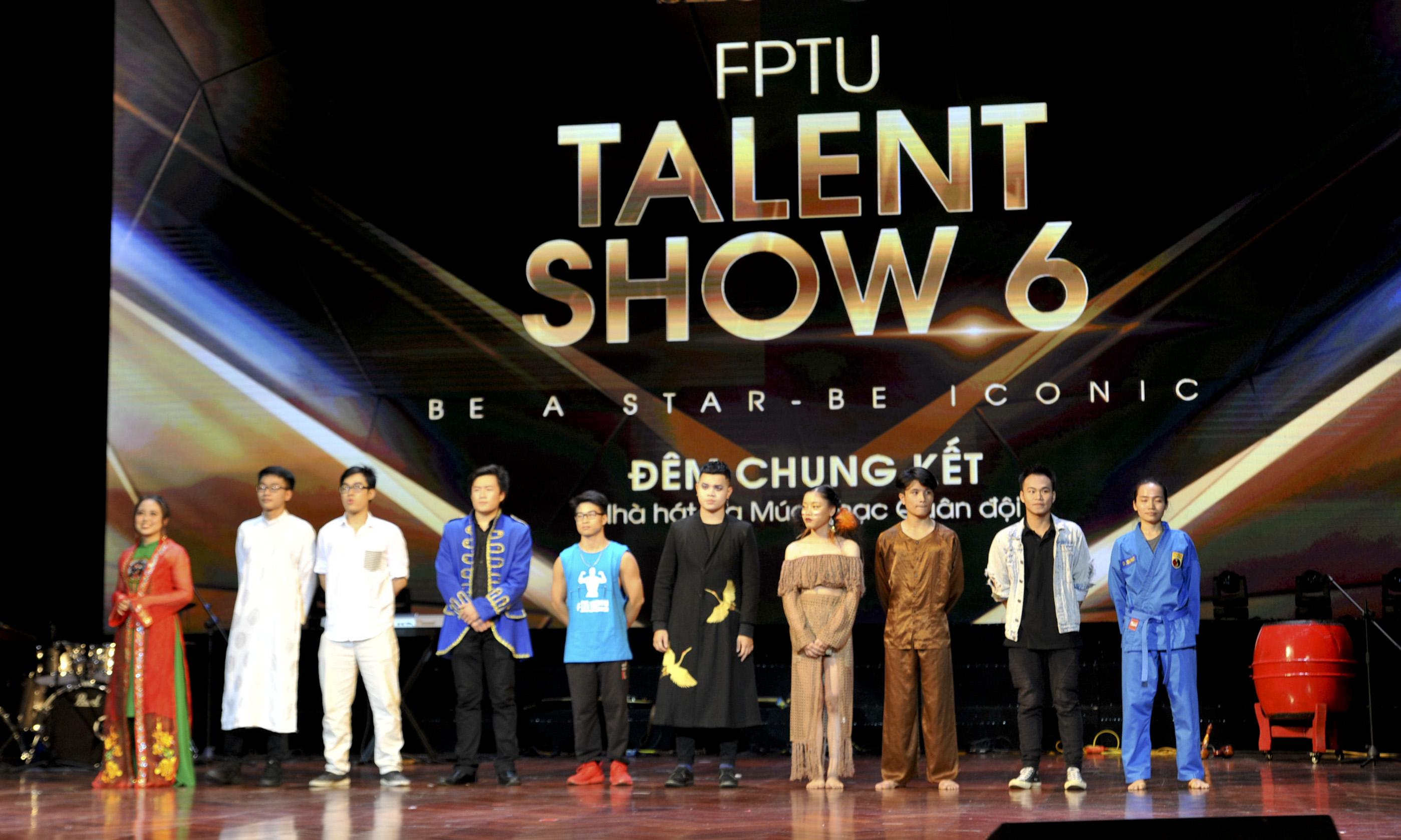 Ngày 2/11, đêm chung kết cuộc thi FPTU Talent Show 6 (FTS6) đã diễn ra tại nhà hát Quân đội, Hà Nội với sự góp mặt của 10 nhóm thí sinh đến từ các đơn vị thuộc Tổ chức Giáo dục FPT như ĐH FPT, FPT Polytechnic... Ba vị giám khảo khách mời ngồi ghế nóng FTS6 là diễn viên Lan Phương, nghệ sĩ Hà Lê, vũ công Đức Việt.