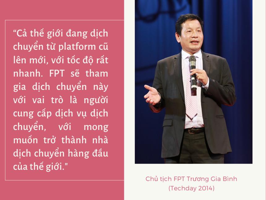 """Phát biểu khai mạc TechDay 2014, người đứng đầu tập đoàn không giấu diếm tham vọng khi khẳng định: """"Khi nói đến SMAC, không thể không nhắc đến Việt Nam và FPT""""."""