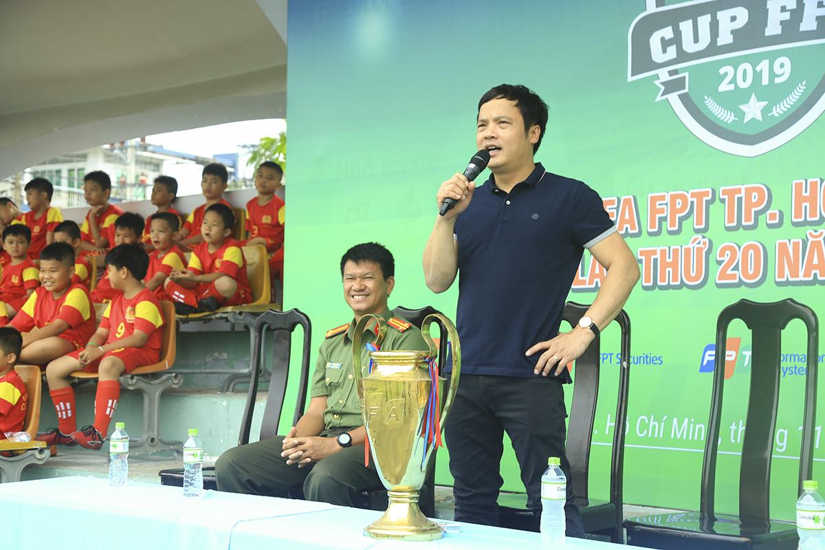 Anh Nguyễn Văn Khoa - TGĐ FPT đã hoan nghênh sự trở lại của Synnex FPT, đồng thời chúc các cầu thủ thi đấu hết mình và giành được những kết quả tốt nhất với tinh thần fair-play, cống hiến.