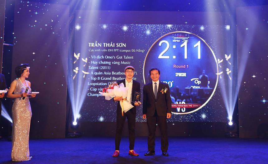 Trần Thái Sơn, cựu sinh viên ĐH FPT tại Đà Nẵng cũng được vinh danh trong đêm Gala 20 năm. Anh đã giành hàng loạt giải thưởng gắn với beatbox như: Vô địch Omo's Got Talent, top 8 Loopstation giải thế giới (Grand Beatbox 2018), huy chương vàng Music Talent 2011… Anh cũng là khách mời các chương trình và gameshow lớn của Việt Nam như: Ca sĩ giấu mặt, Hòa âm Ánh sáng, Sao Mai điểm hẹn, Ca sĩ giấu mặt, Cặp đôi hoàn hảo, VN's Got Talent…