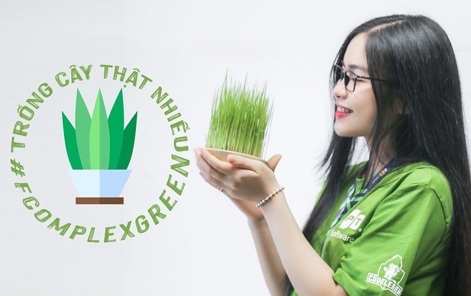 """Được phát động từ cuối tháng 10, chiến dịch """"F-Complex Green"""" do FPT Software Đà Nẵng triển khai hướng đến việc tạo môi trường sống xanh đến toàn thể CBNV."""